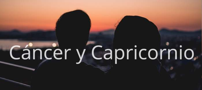 Compatibilidad entre Cáncer y Capricornio