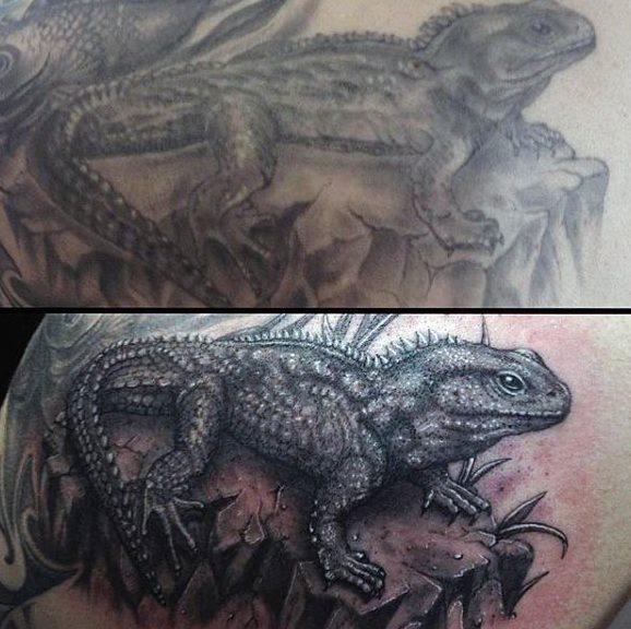 tatuaje lagarto para hombre 01