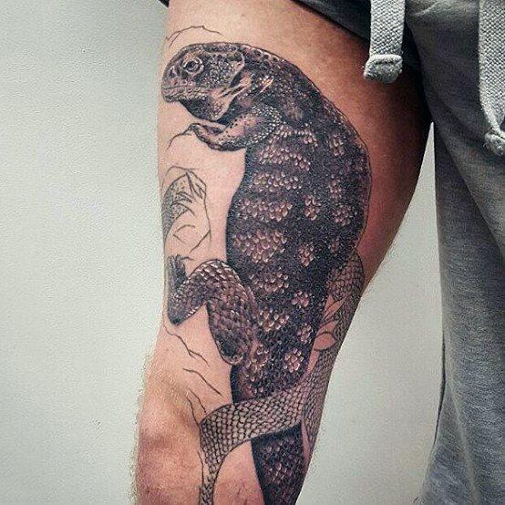 tatuaje lagarto para hombre 03