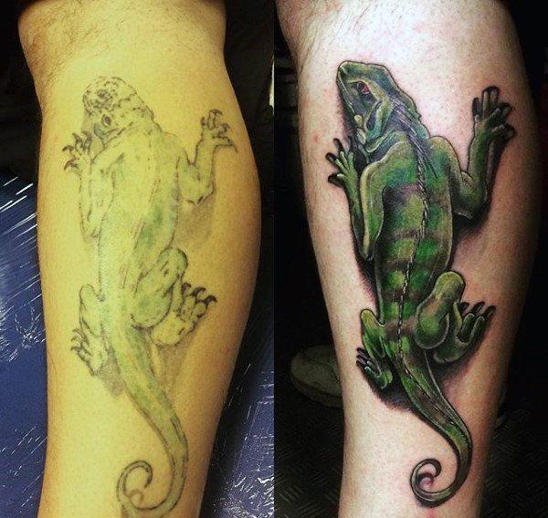 tatuaje lagarto para hombre 05