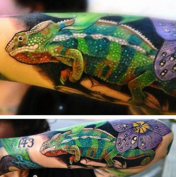 tatuaje lagarto para hombre 10