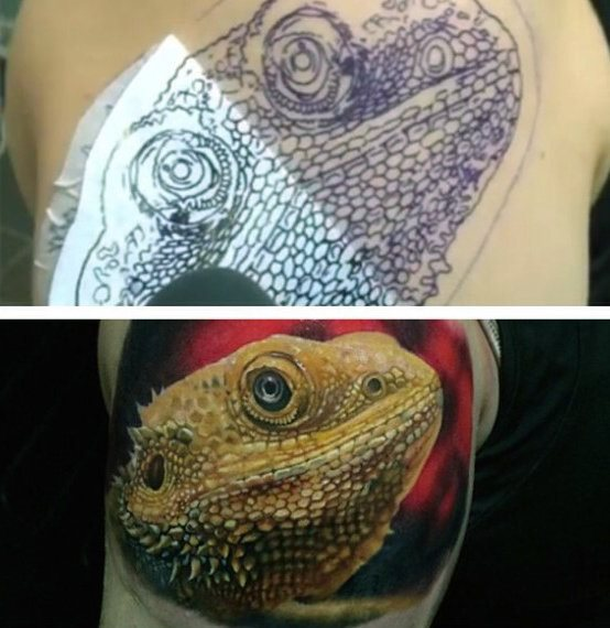 tatuaje lagarto para hombre 15