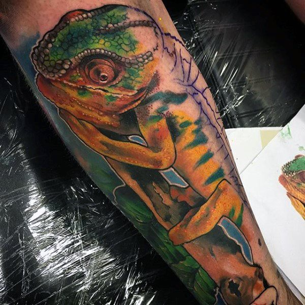 tatuaje lagarto para hombre 17