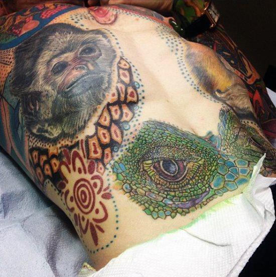 tatuaje lagarto para hombre 18