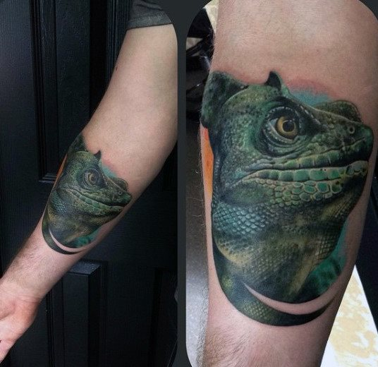 tatuaje lagarto para hombre 34