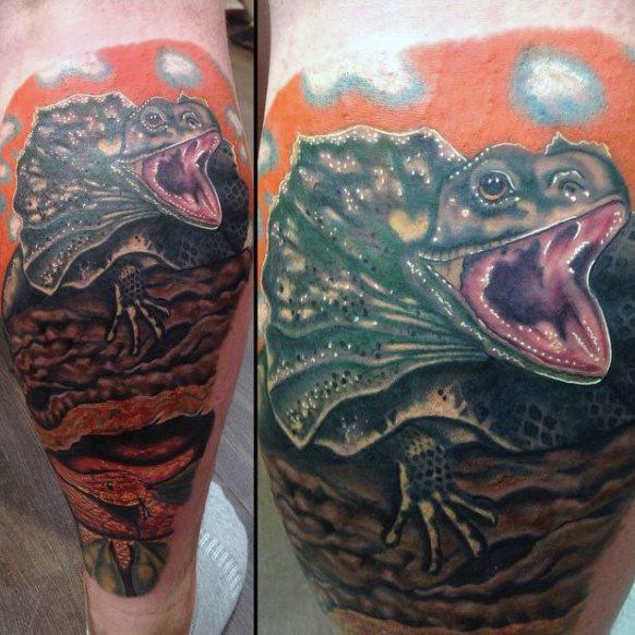 tatuaje lagarto para hombre 40