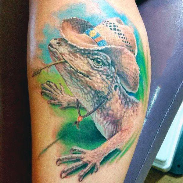 tatuaje lagarto para hombre 49
