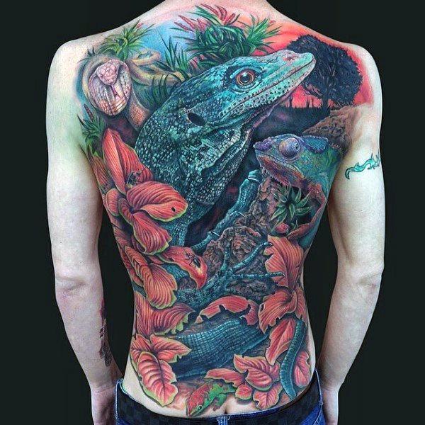 tatuaje lagarto para hombre 55
