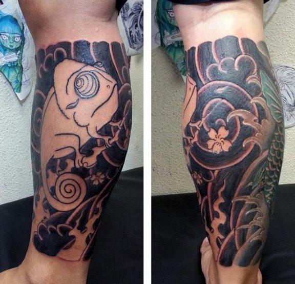tatuaje lagarto para hombre 63
