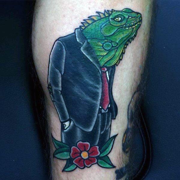 tatuaje lagarto para hombre 70