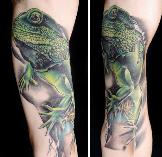 tatuaje lagarto para hombre 72