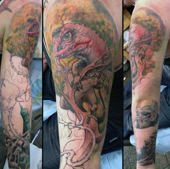 tatuaje lagarto para hombre 74