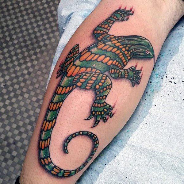 tatuaje lagarto para hombre 87