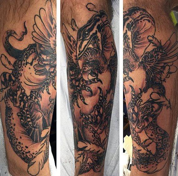 tatuaje lagarto para hombre 95